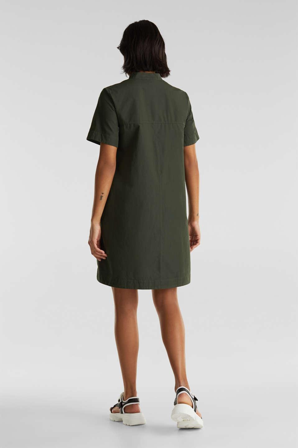 Utility dress made of organic cotton, KHAKI GREEN, detail image number 1