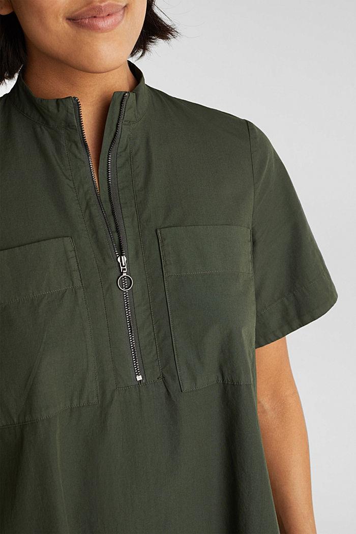 Utility-Dress aus Bio-Baumwolle, KHAKI GREEN, detail image number 2