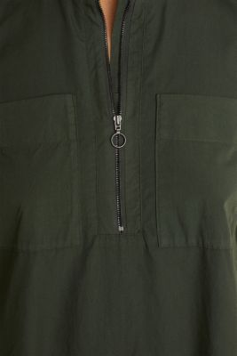 Utility dress made of organic cotton, KHAKI GREEN, detail