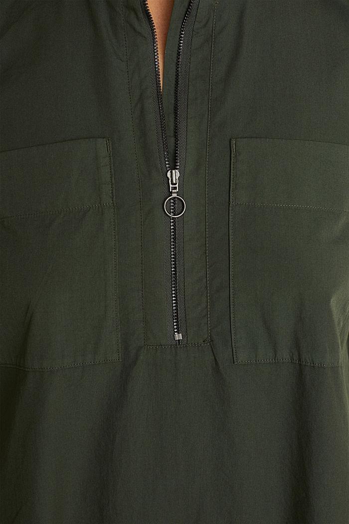 Utility-Dress aus Bio-Baumwolle, KHAKI GREEN, detail image number 3