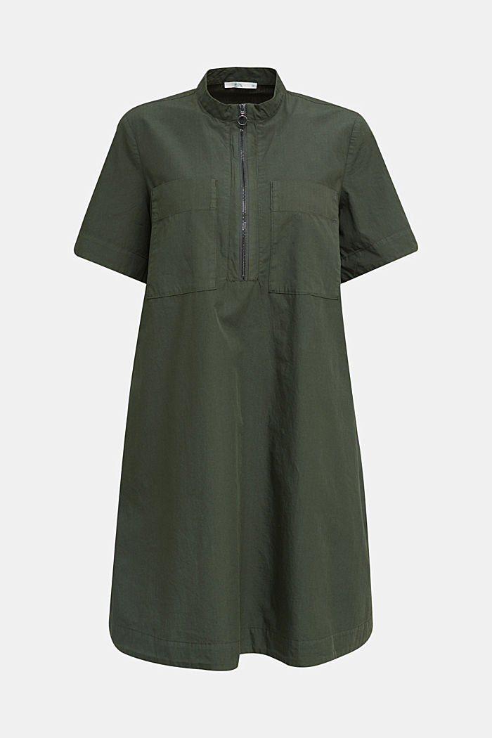Utility dress made of organic cotton, KHAKI GREEN, detail image number 4