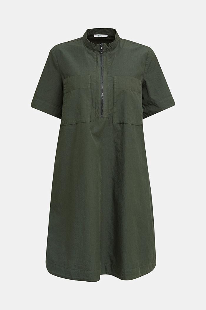 Utility dress made of organic cotton