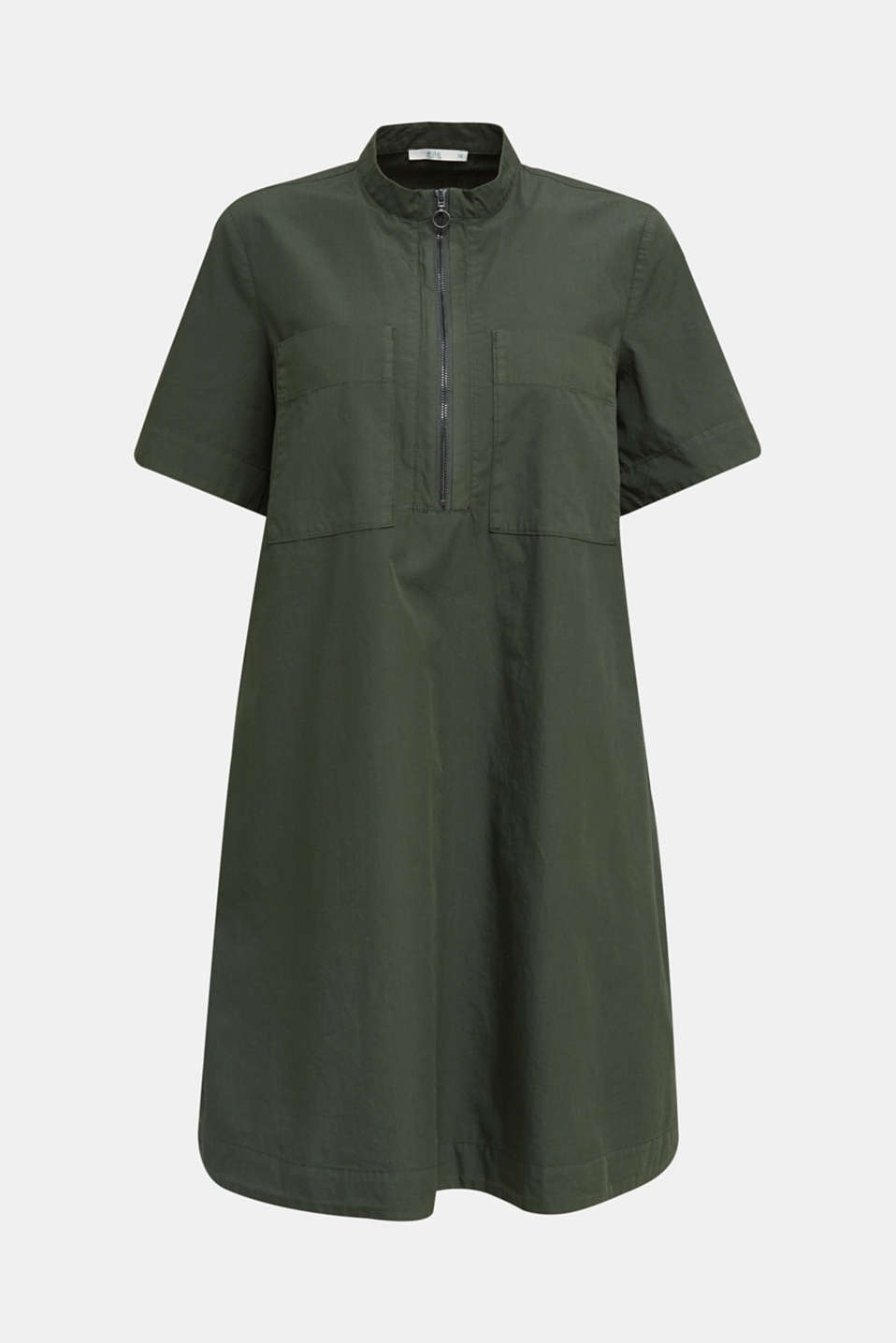 Utility dress made of organic cotton, KHAKI GREEN, detail image number 4