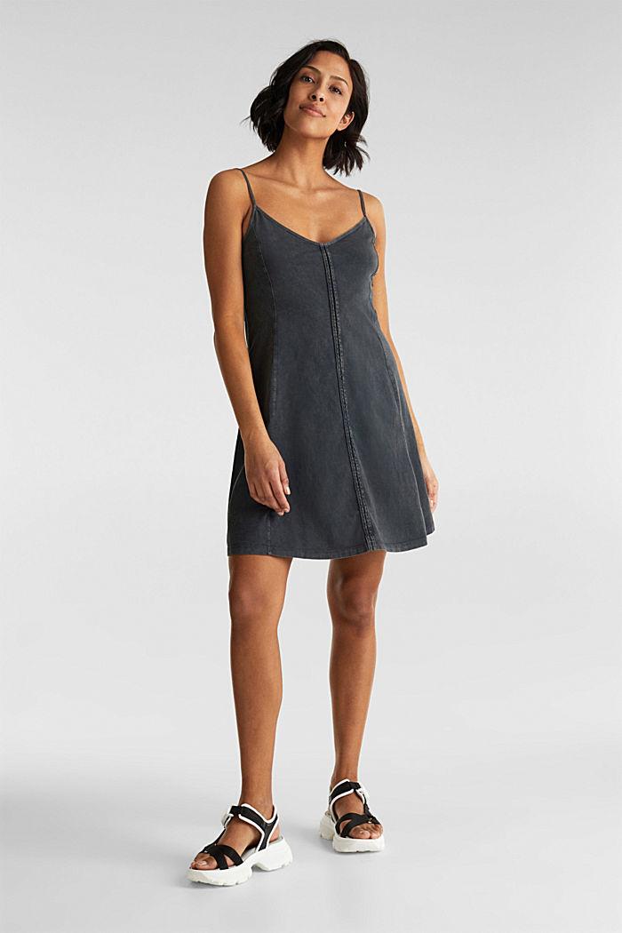Jersey dress, 100% cotton, BLACK, detail image number 0