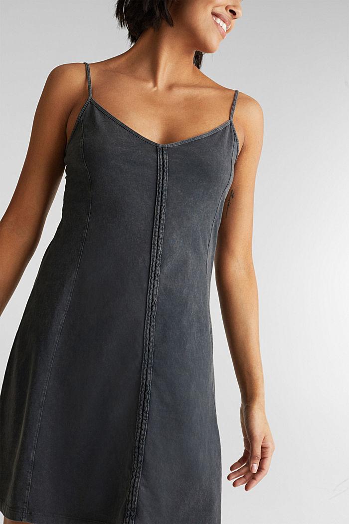 Jersey dress, 100% cotton, BLACK, detail image number 5