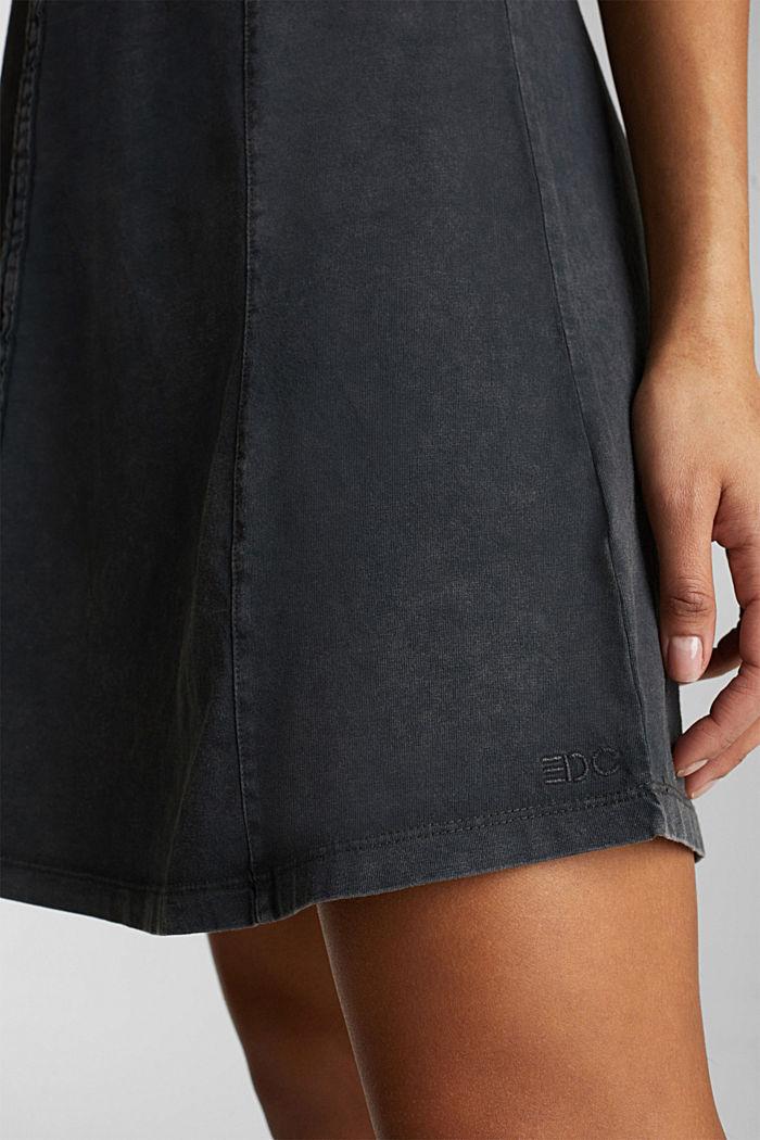 Jersey dress, 100% cotton, BLACK, detail image number 6