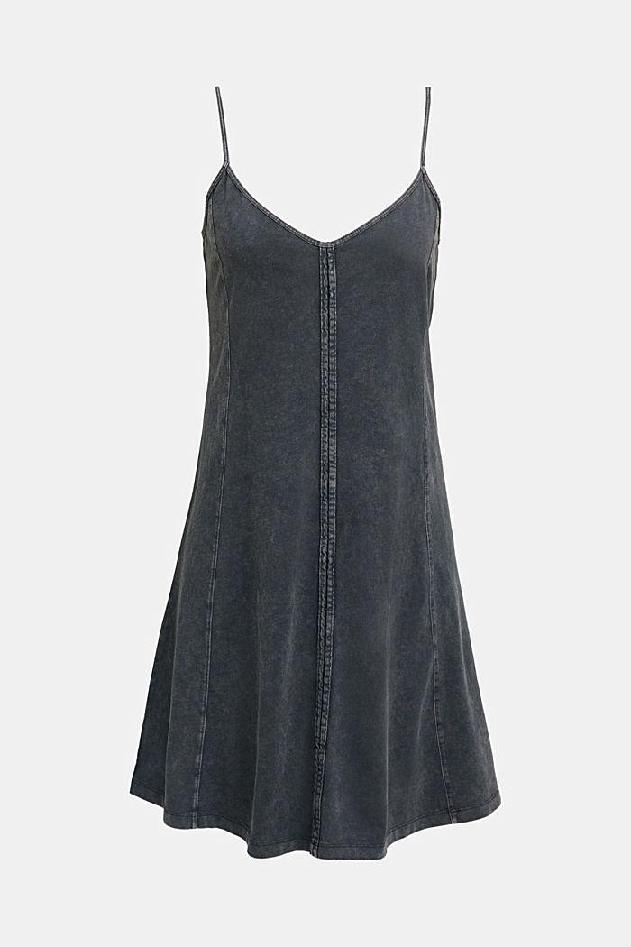 Jersey dress, 100% cotton, BLACK, detail image number 7