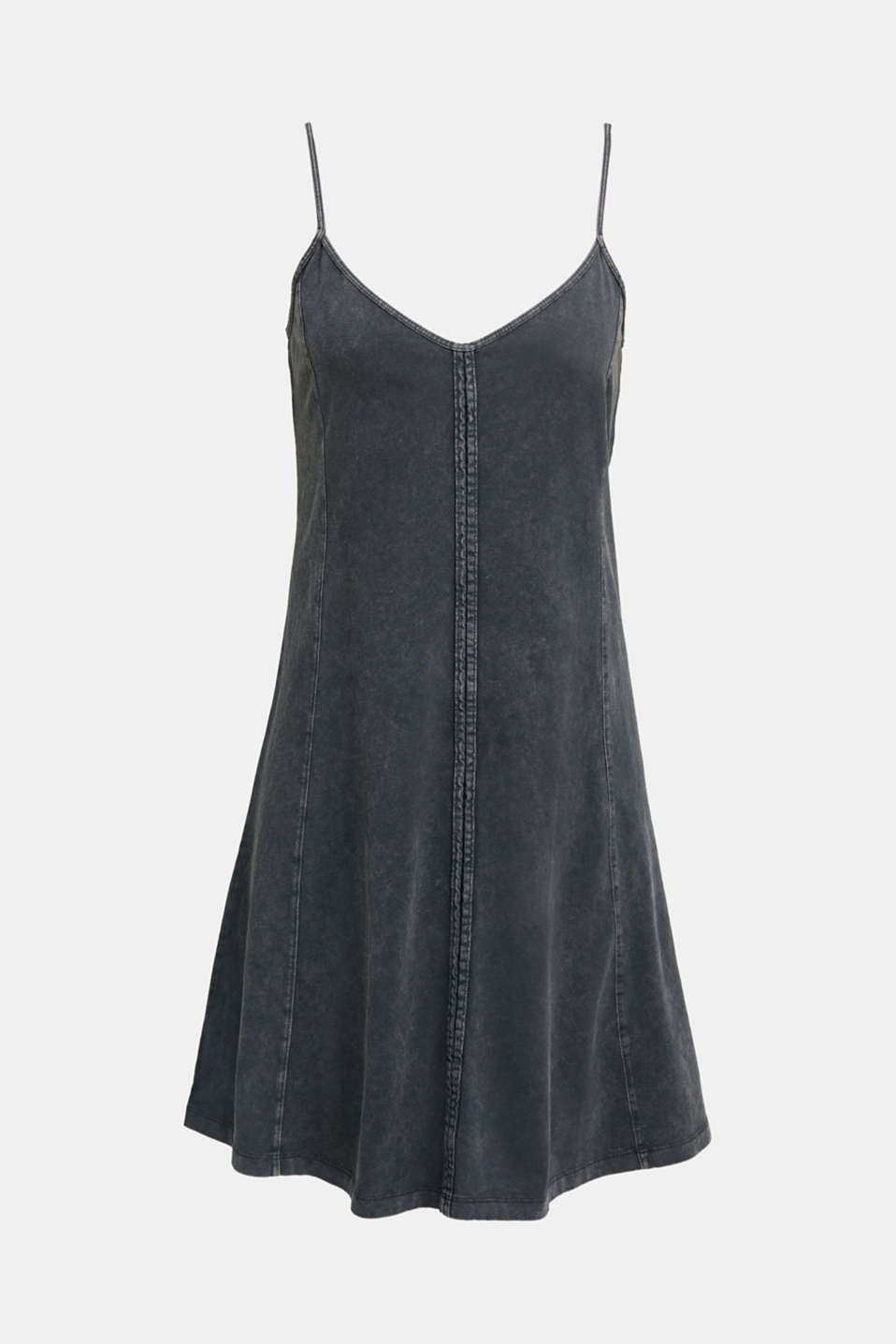 Jersey dress, 100% cotton, BLACK, detail image number 7