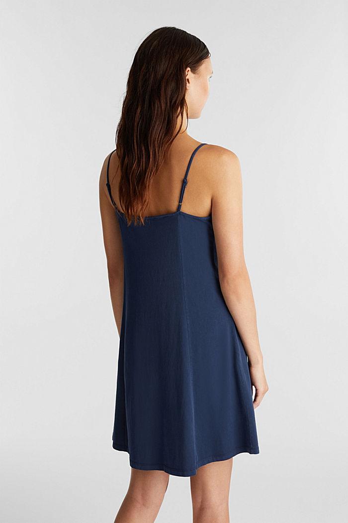 Jersey dress, 100% cotton, NAVY, detail image number 2