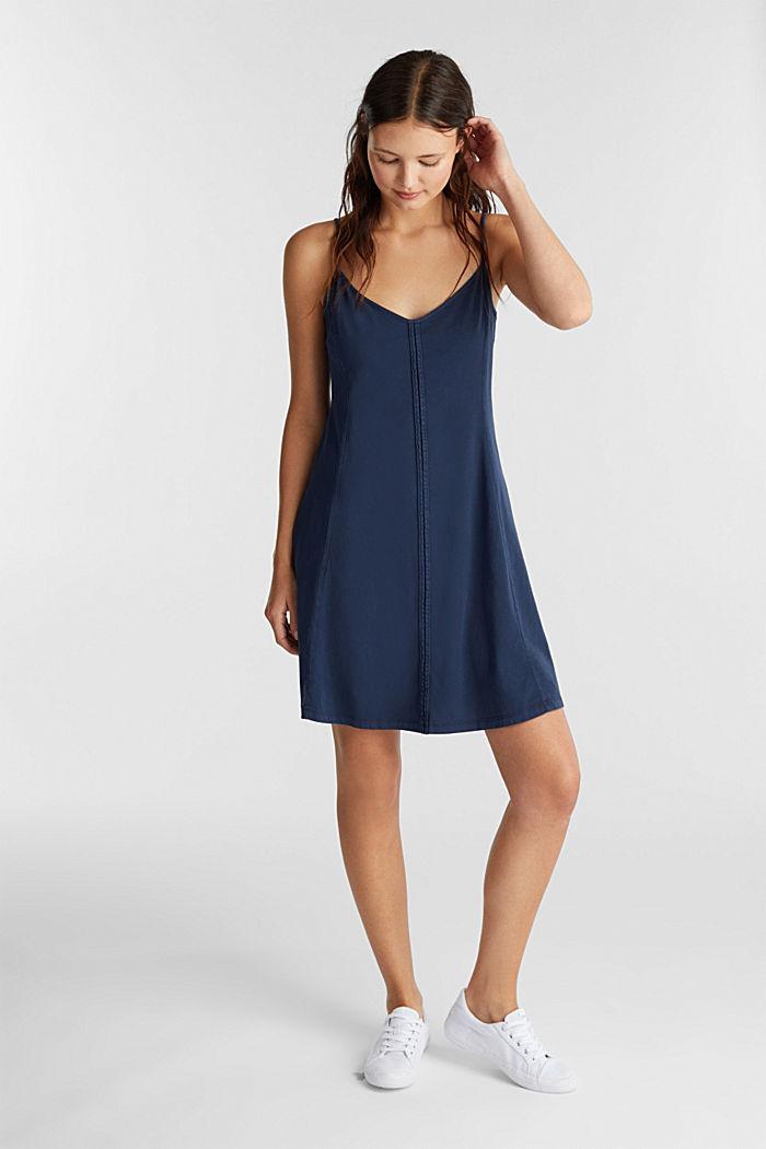 Jersey dress, 100% cotton, NAVY, detail image number 1