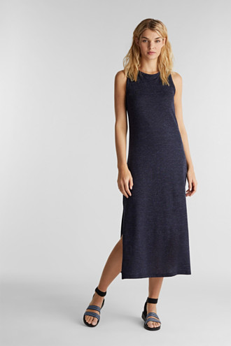 Jersey dress with a racer back