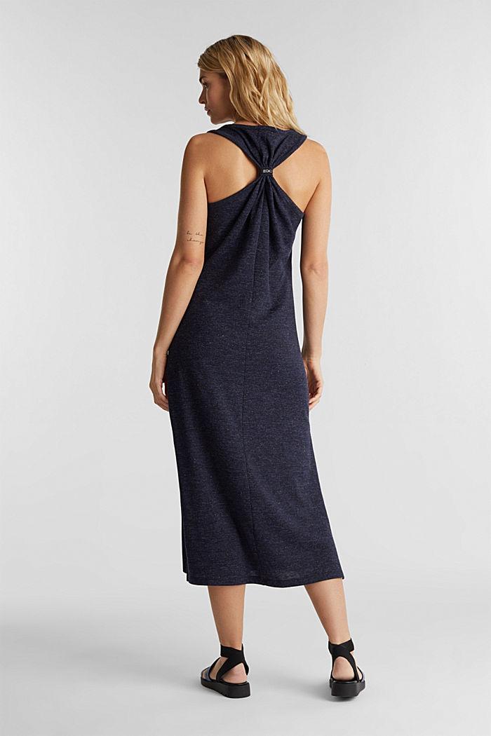 Jersey-Kleid mit Ringerrücken, NAVY, detail image number 2