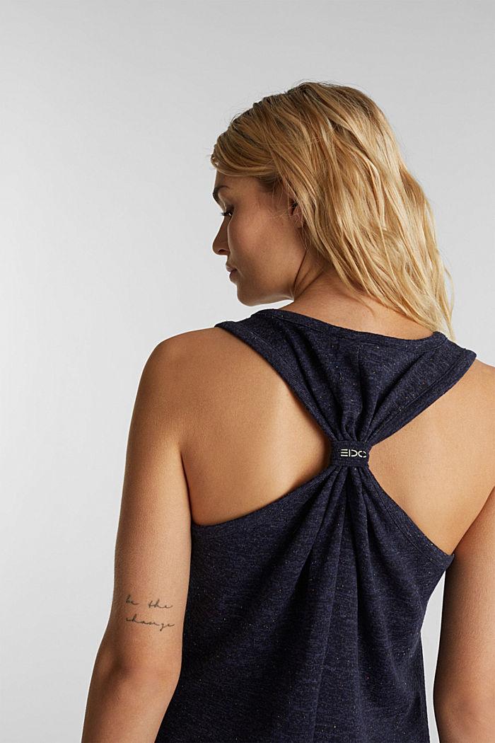 Jersey-Kleid mit Ringerrücken, NAVY, detail image number 3