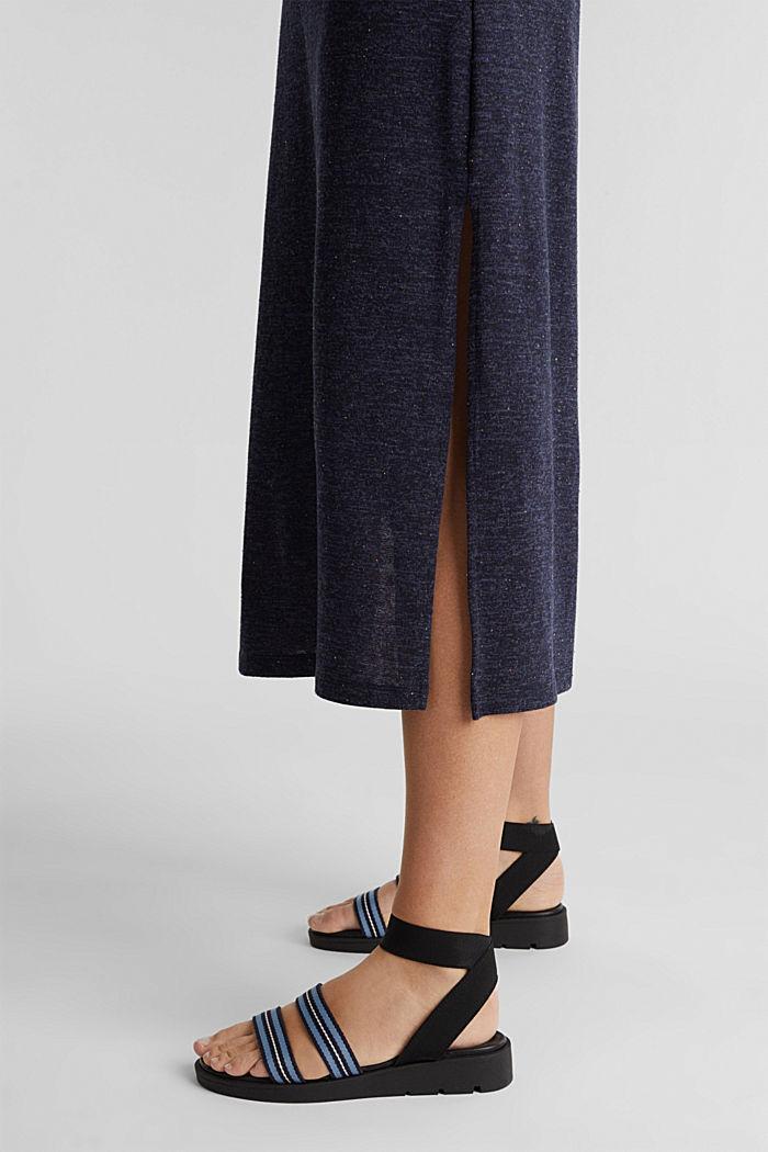 Jersey-Kleid mit Ringerrücken, NAVY, detail image number 5