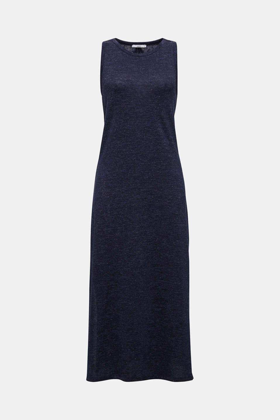 Jersey dress with a racer back, NAVY, detail image number 6