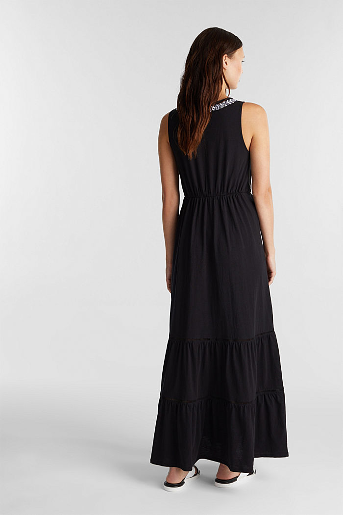 Maxi dress with embroidery, BLACK, detail image number 2