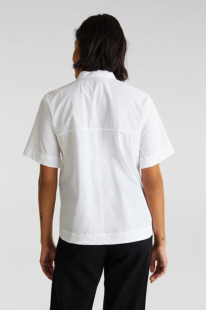 Bluse im Utility-Stil, 100% Bio-Baumwolle, WHITE, detail image number 3