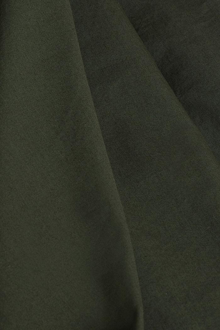 Utility-style blouse, 100% organic cotton, KHAKI GREEN, detail image number 4