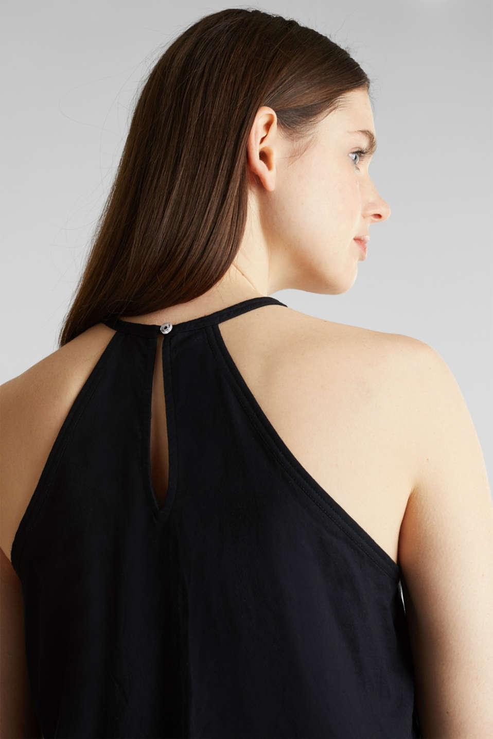 Blouse top, organic cotton, BLACK, detail image number 5