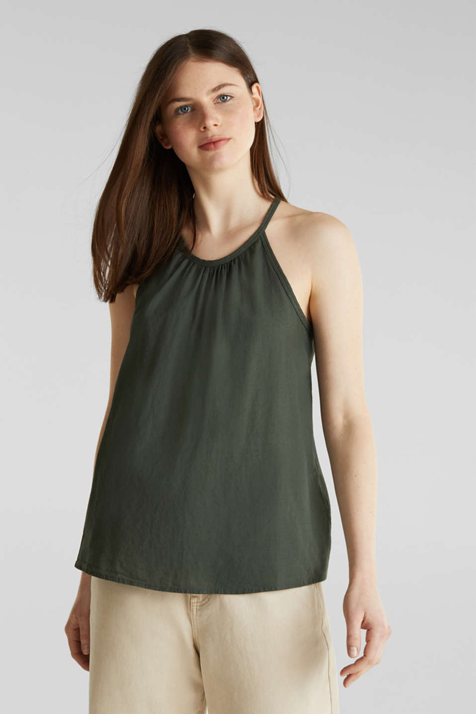 edc - Blouse top, organic cotton