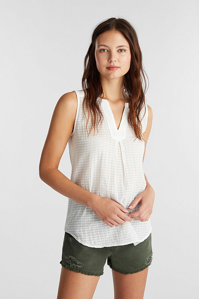 Blouse top, 100% cotton