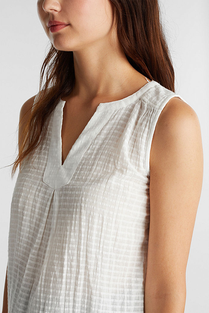 Blouse top, 100% cotton, OFF WHITE, detail image number 2