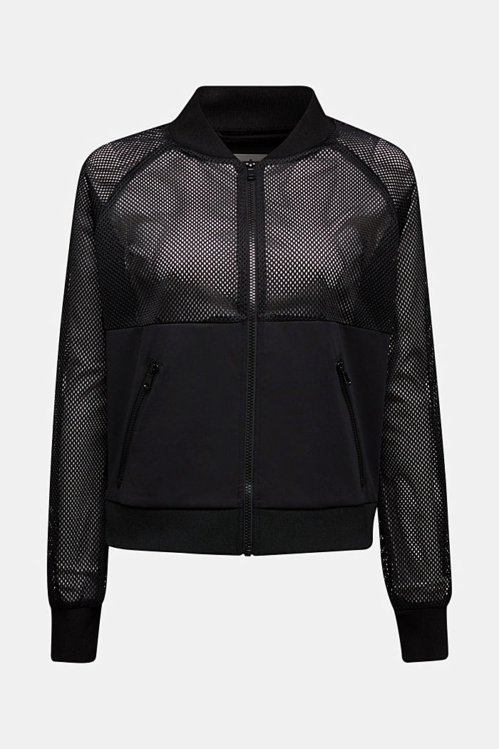 Mesh-Blouson mit Sweat