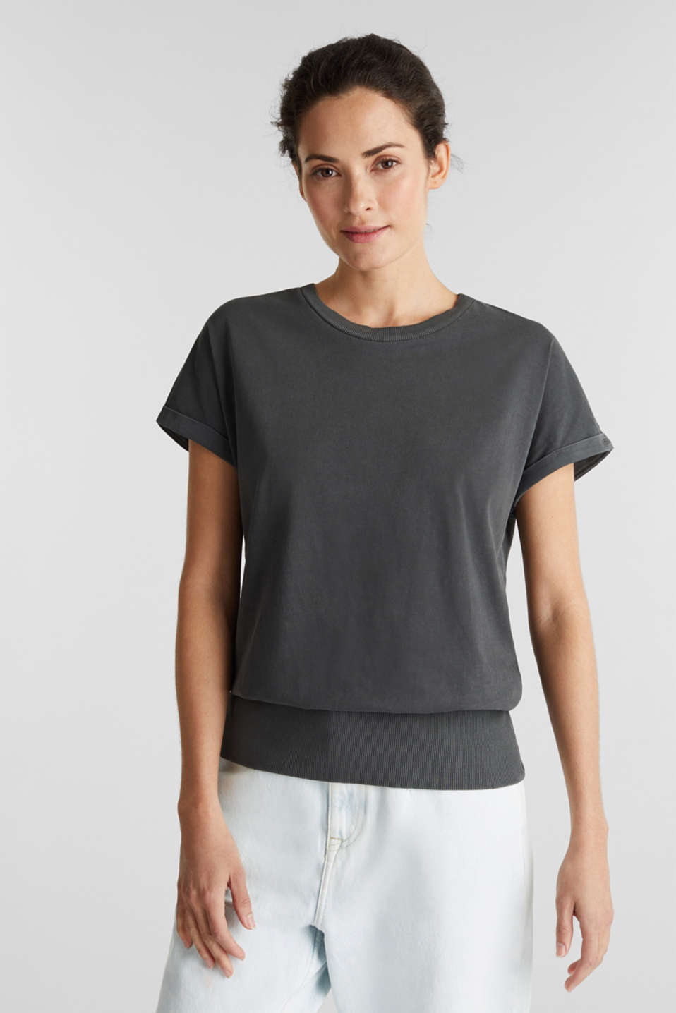 Top made of 100% organic cotton, BLACK, detail image number 0