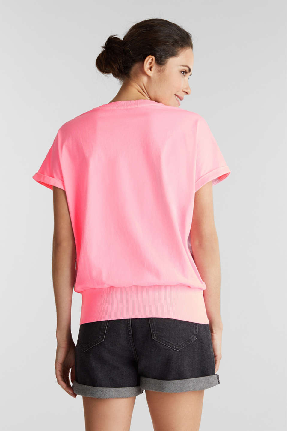 Top made of 100% organic cotton, PINK, detail image number 3