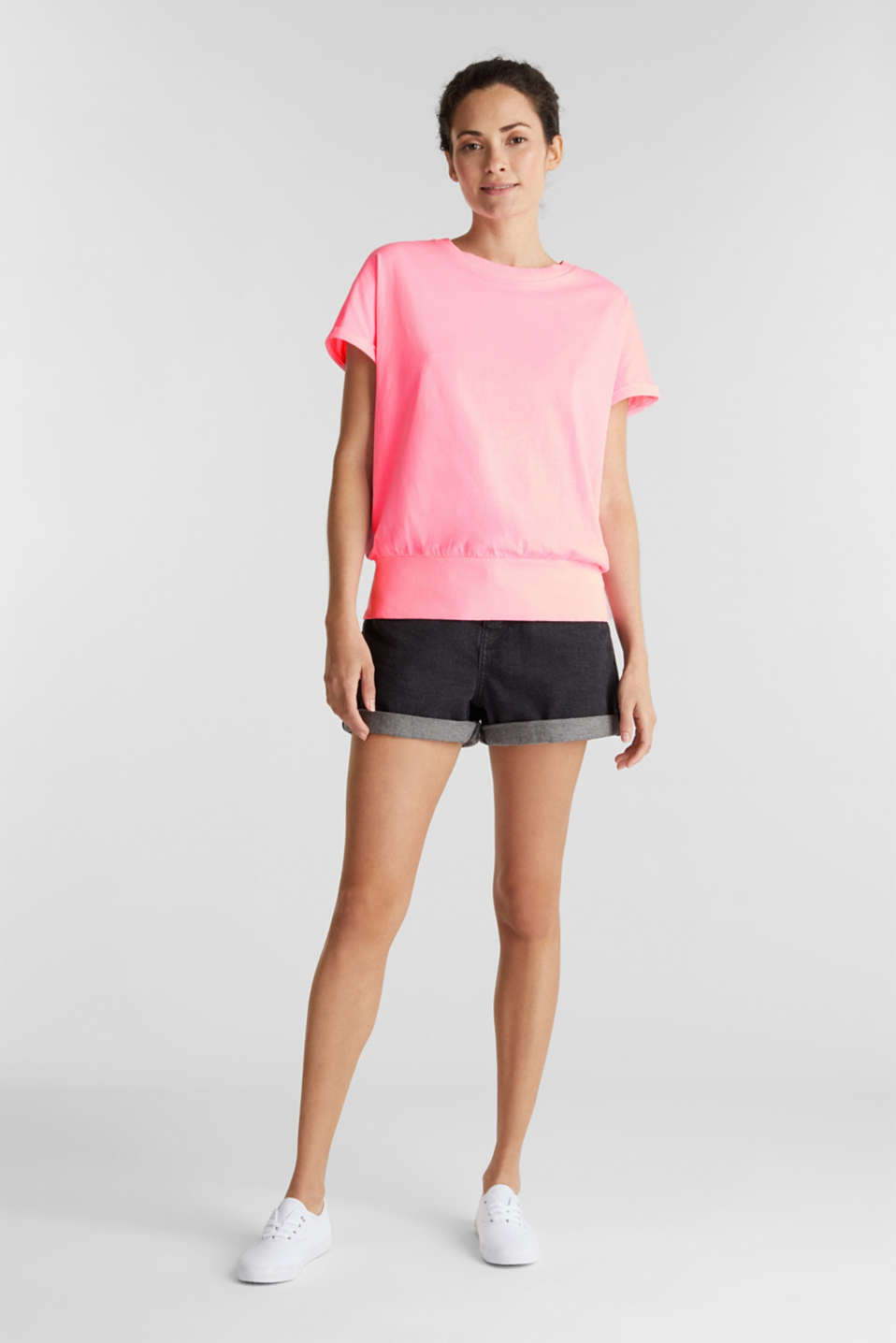 Top made of 100% organic cotton, PINK, detail image number 1