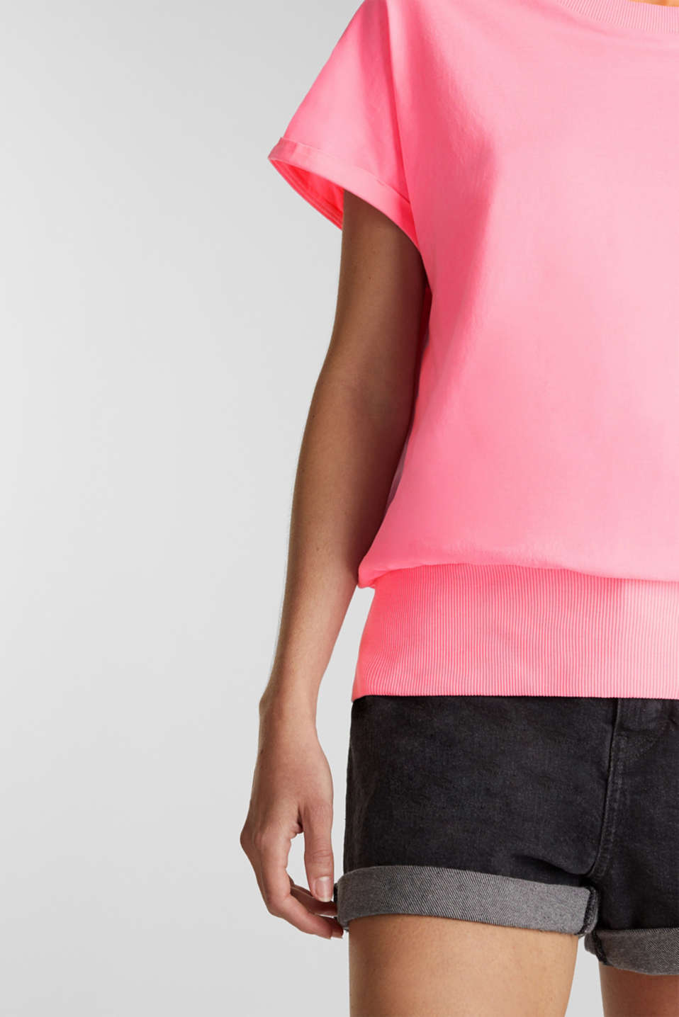 Top made of 100% organic cotton, PINK, detail image number 2