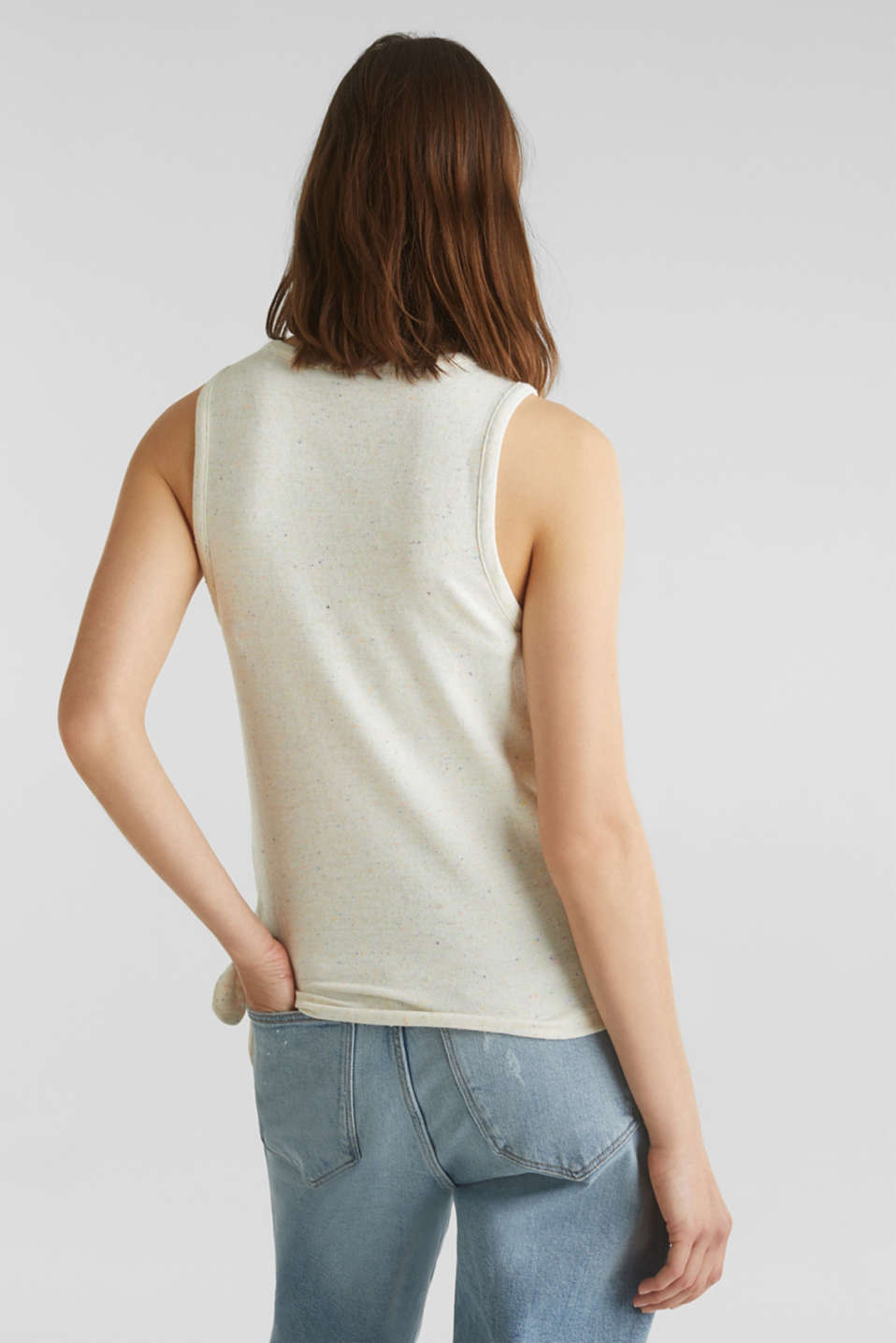 Jersey top with dimples, OFF WHITE, detail image number 2