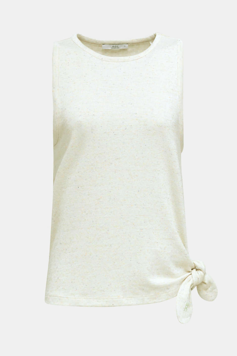 Jersey top with dimples, OFF WHITE, detail image number 6