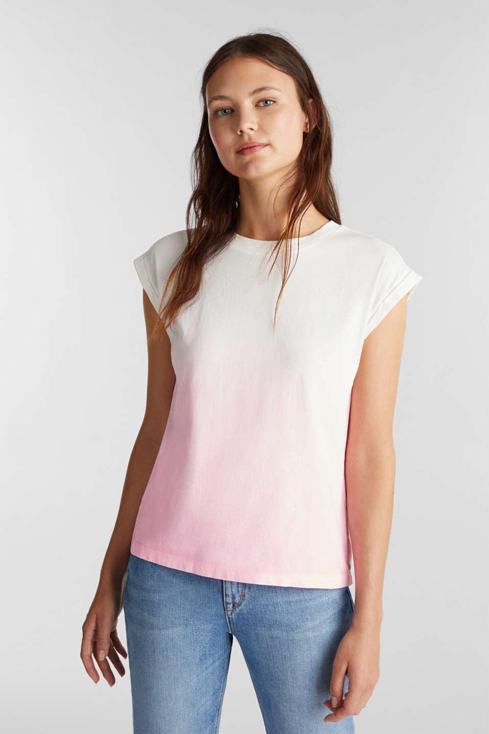 Dip-dye top, organic cotton, PINK, detail image number 0