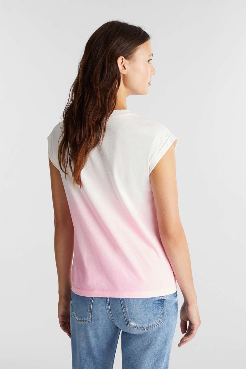 Dip-dye top, organic cotton, PINK, detail image number 3
