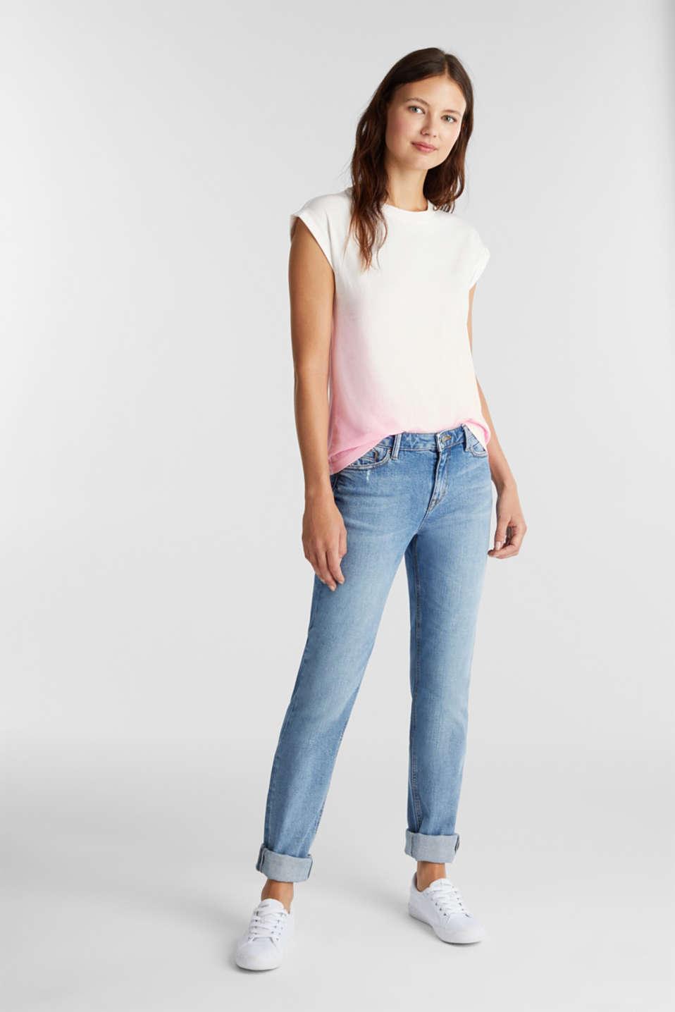 Dip-dye top, organic cotton, PINK, detail image number 1
