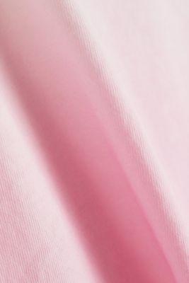 Dip-dye top, organic cotton, PINK, detail