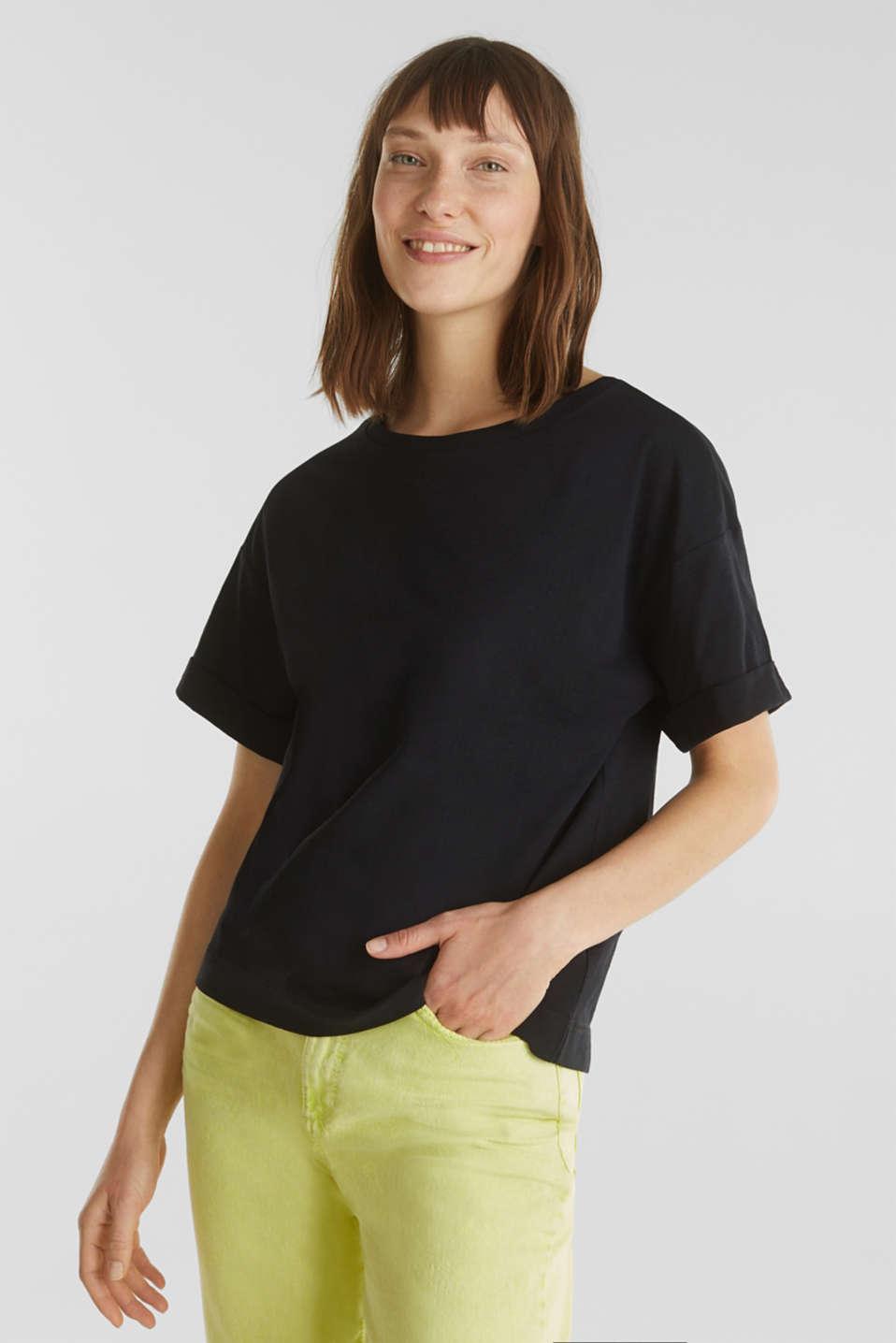 Top made of 100% organic cotton, BLACK, detail image number 0