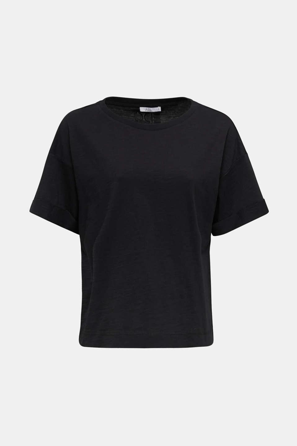 Top made of 100% organic cotton, BLACK, detail image number 6