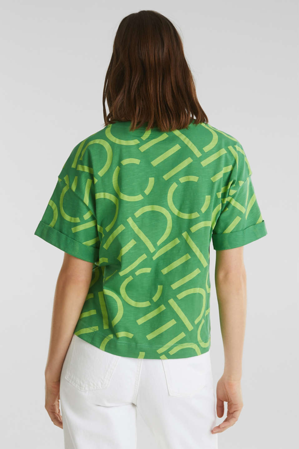 Top made of 100% organic cotton, GREEN, detail image number 2