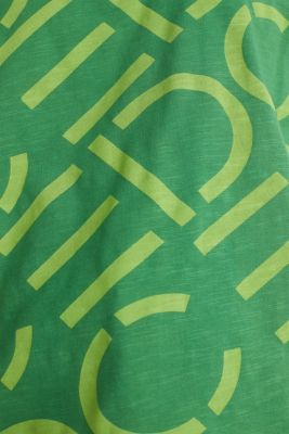 Top made of 100% organic cotton, GREEN, detail