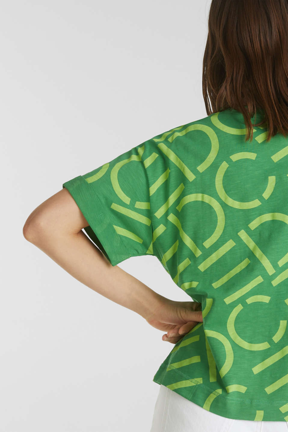 Top made of 100% organic cotton, GREEN, detail image number 4