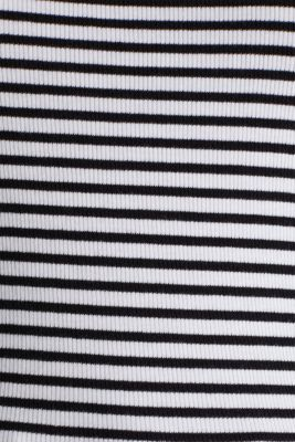 Ribbed jersey sleeveless top, BLACK, detail