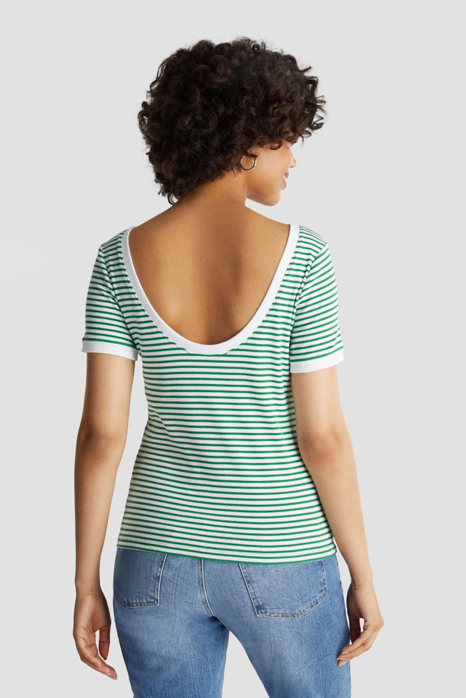 Top with organic cotton, GREEN, detail image number 3