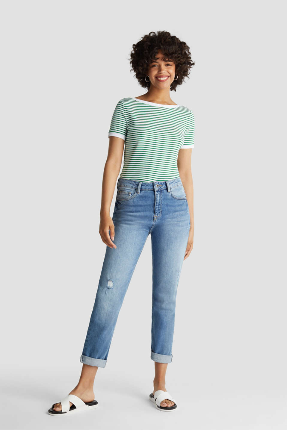 Top with organic cotton, GREEN, detail image number 1
