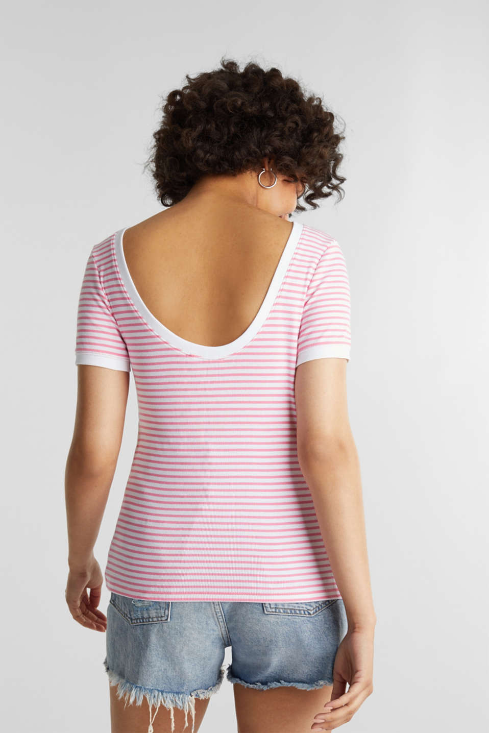 Top with organic cotton, PINK, detail image number 3