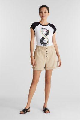 Print T-shirt, 100% organic cotton, BLACK, detail