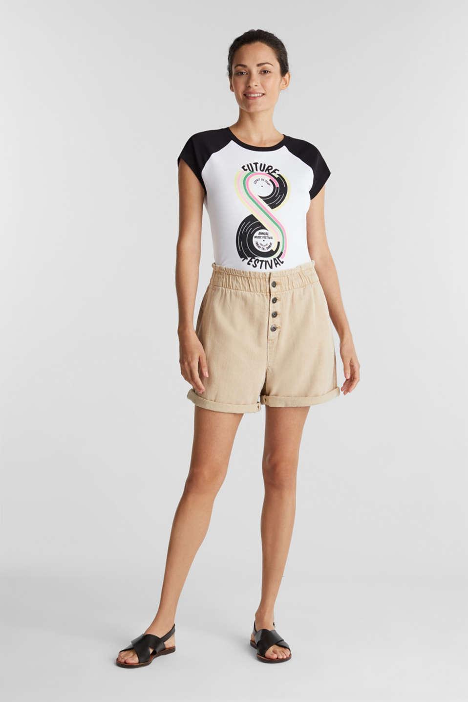 Print T-shirt, 100% organic cotton, BLACK, detail image number 1
