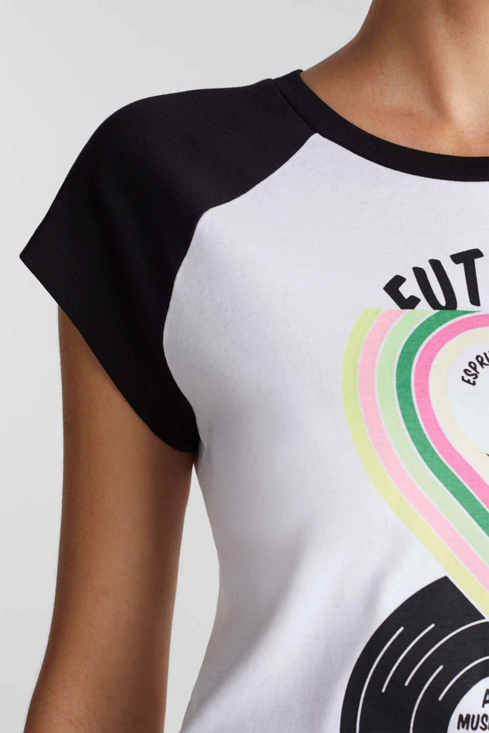 Print T-shirt, 100% organic cotton, BLACK, detail image number 2