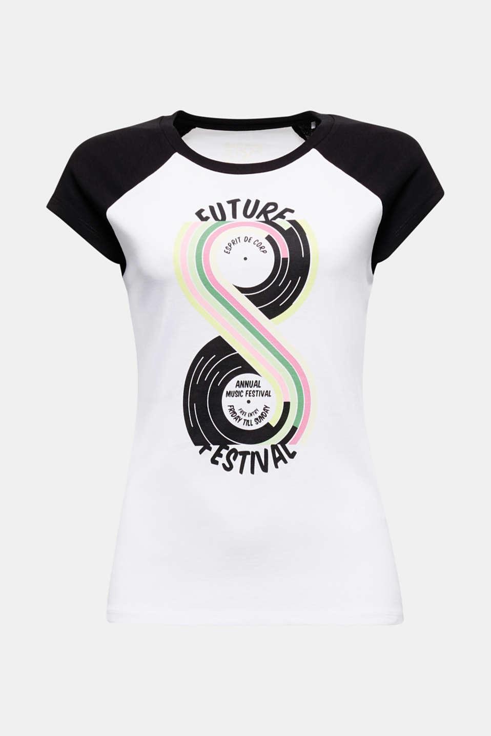 Print T-shirt, 100% organic cotton, BLACK, detail image number 5